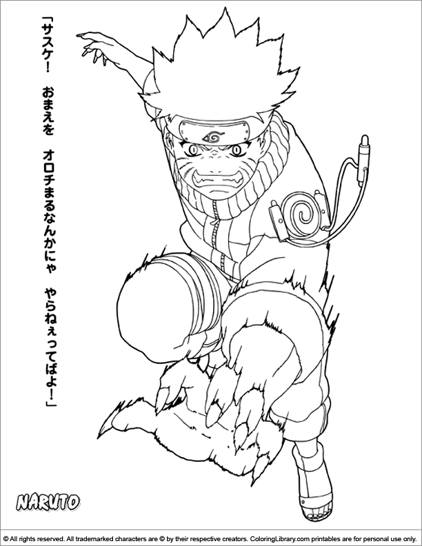 Naruto coloring page   home   Pinterest   Colorear