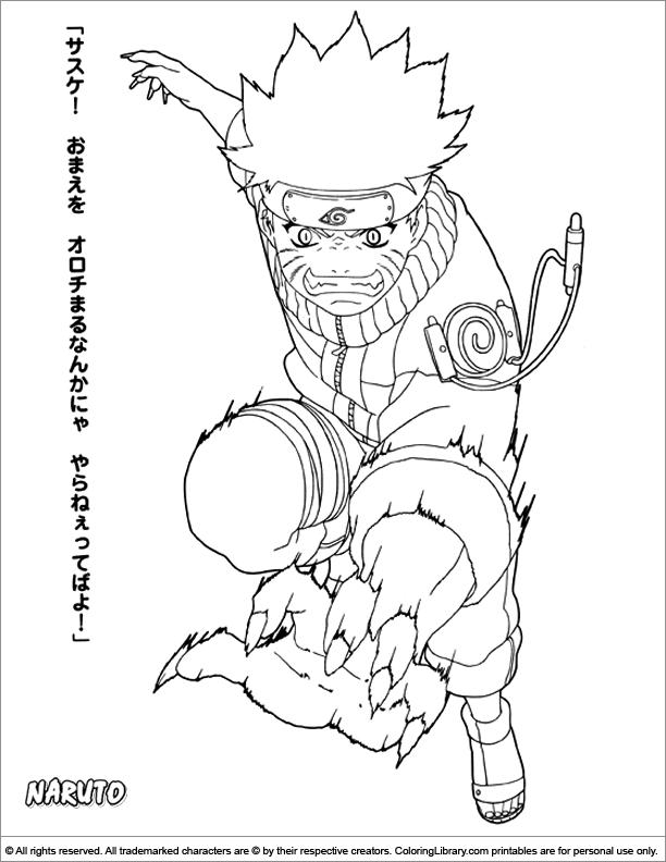 Naruto coloring page | Naruto uzumaki | Pinterest | Desenhos naruto ...