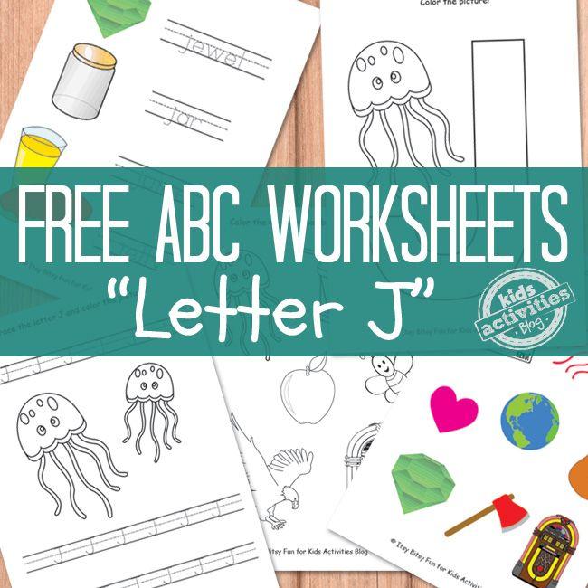 LETTER J WORKSHEETS FREE KIDS PRINTABLE | Worksheets, Preschool ...