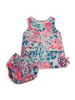 e012e6965 Lilly Pulitzer Kids - Baby's Vintage Dobby Underwater Shift Dress & Bloomers  Set