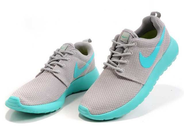 Nike Roshe Run Mesh Womens Grey Mint Green Shoes  e33ab98b77