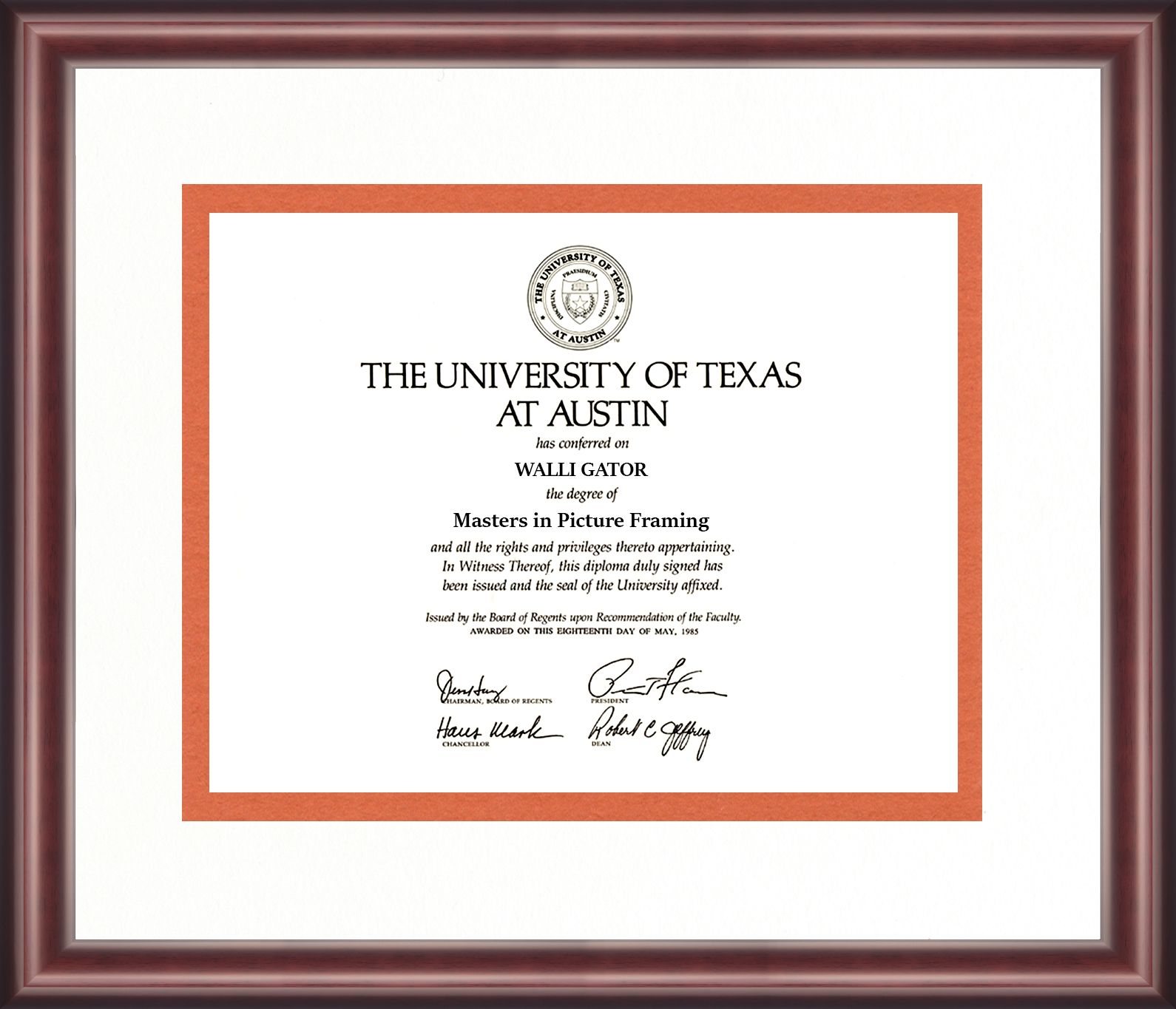 University of Texas Diploma Frame | Diploma Frames | Pinterest ...
