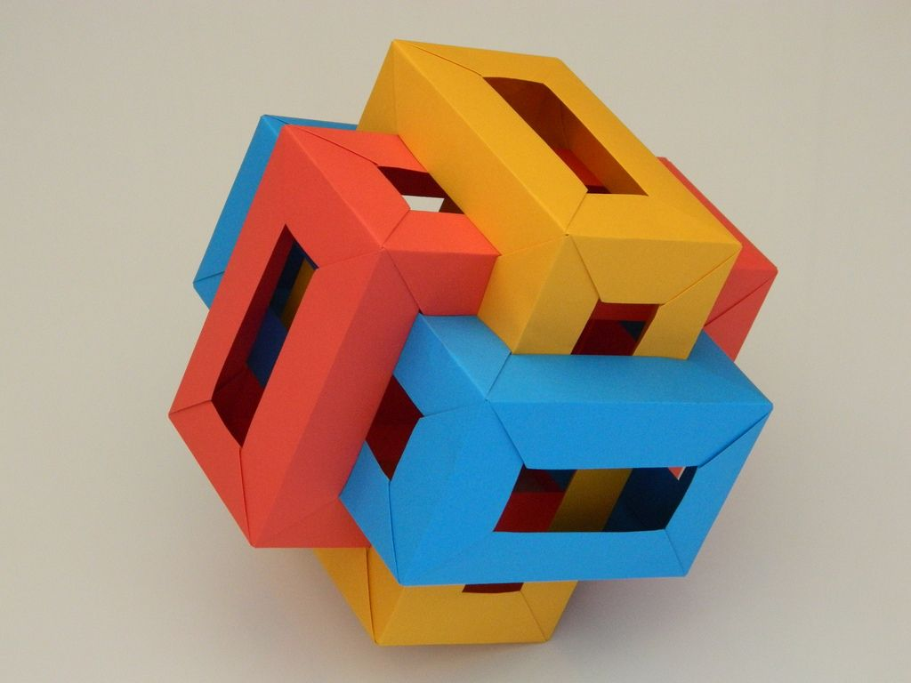 Three Interlocking Rectangular Prisms
