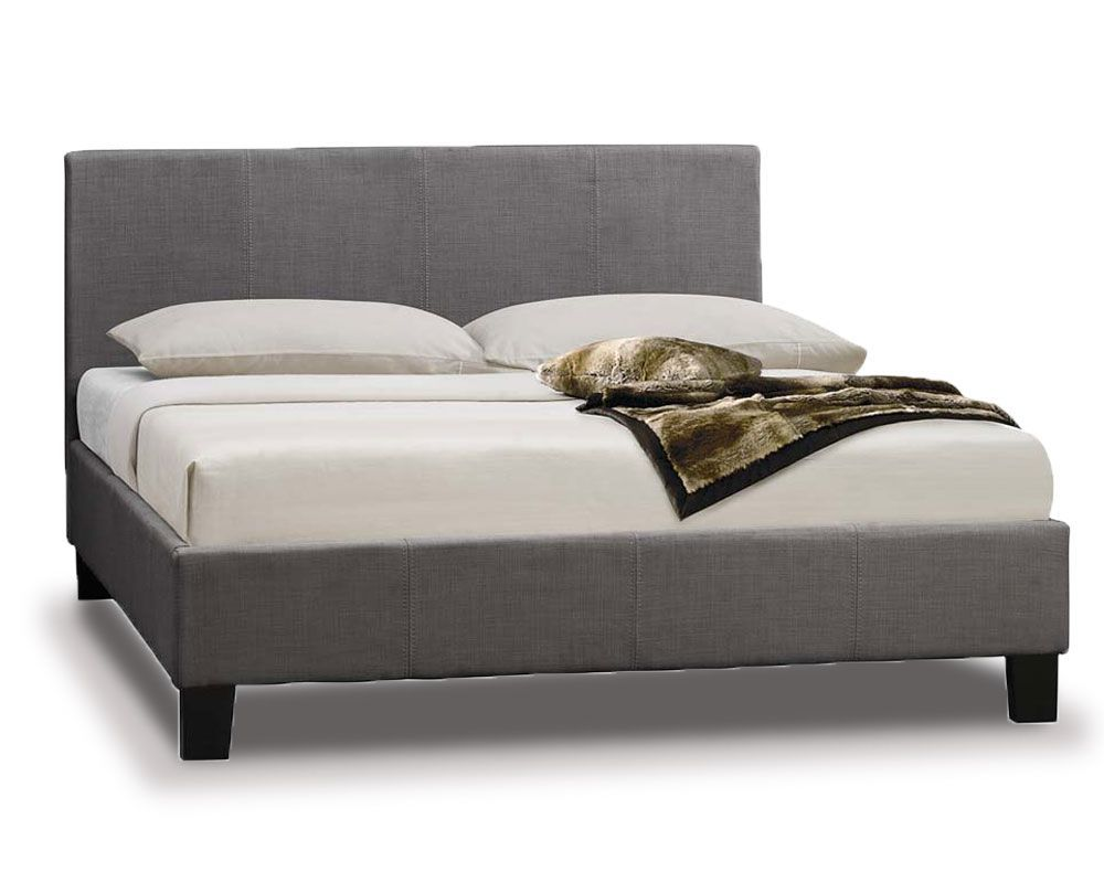 Parade Grey Fabric Three Quarter 3 4 Bed Frame Bed Frame King