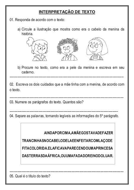 Sequencia Didatica Do Livro Menina Bonita Do Laco De Fita So