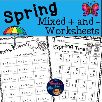 Spring Mixed Addition and Subtraction | Pinterest