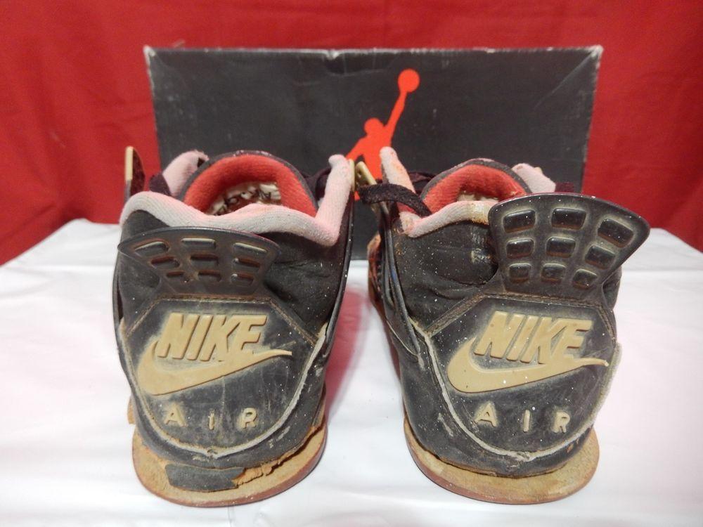 366001ae464 TRASHED 1989 Nike Air Jordan Bred IV 4 Original Vintage OG Ultra Rare with  box 9  Nike  BasketballShoes