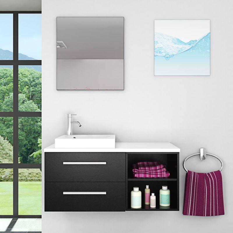 Badmobel Set City 204 V1 Esche Schwarz Badezimmermobel Waschtisch 100cm Acquavapore In 2020 Neues Badezimmer Waschtisch Badezimmer Spiegelschrank
