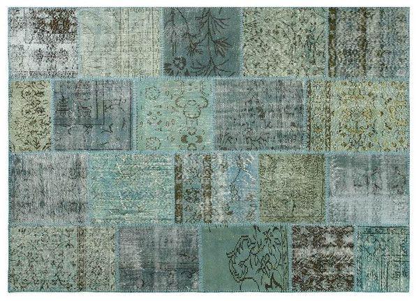 vintage patchwork teppich gr n blau vintage patchwork. Black Bedroom Furniture Sets. Home Design Ideas