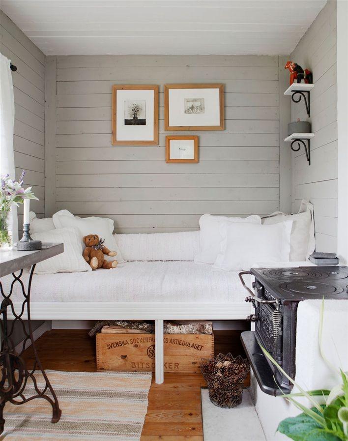 Small Box Room Cabin Bed For Grandma: Scandinavian Bedroom