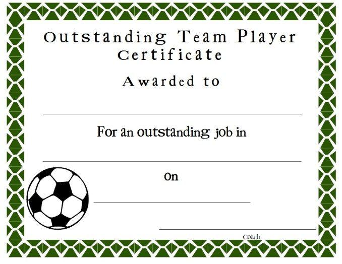 Soccer Certificate Stationary Templates Pinterest Soccer