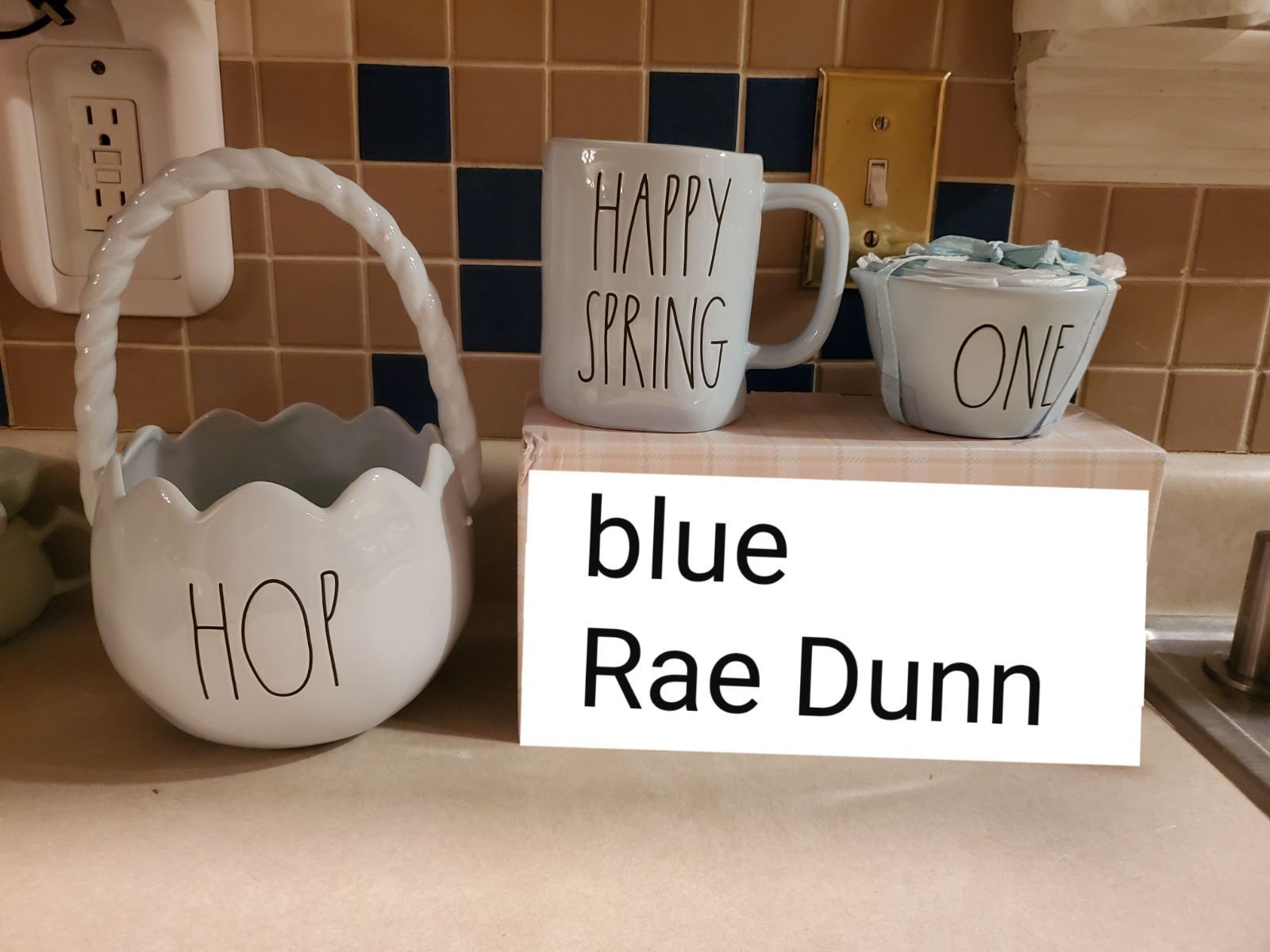 Rae Dunn Blue Set Of 3 Included Are 1 Set Of Measuring Cups 1
