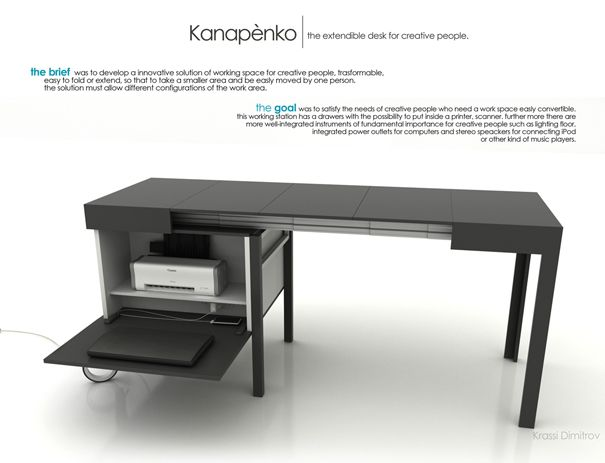 kanapetko desk design by krassi dimitrov furniii - Modern Desk Design