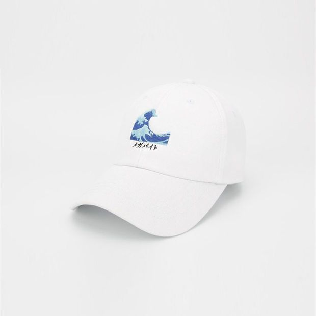 ed508810bf2 Yung Lean Sad Boys Wave Embroidery Vaporwave Strapback Patchwork Cap Swag  Gorras White Dad Hat for Men   Women Adjustable Fishing Cap