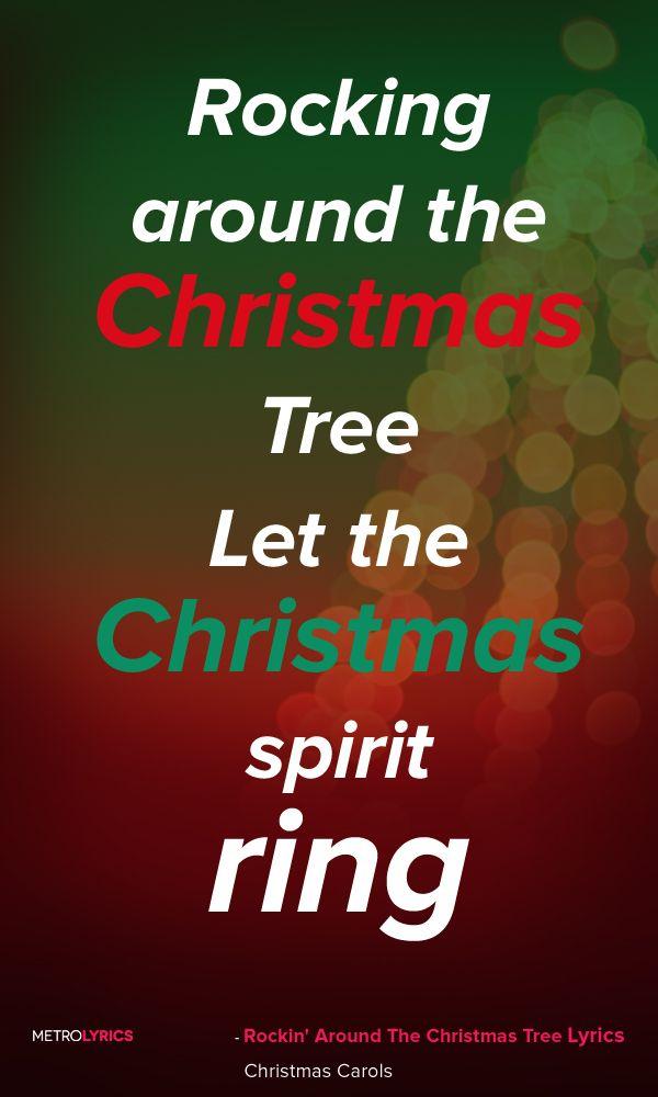 Christmas Carols Rockin' Around The Christmas Tree Lyrics