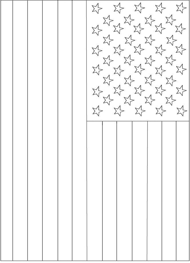 Printable American Flag to Print and Color | American flag ...