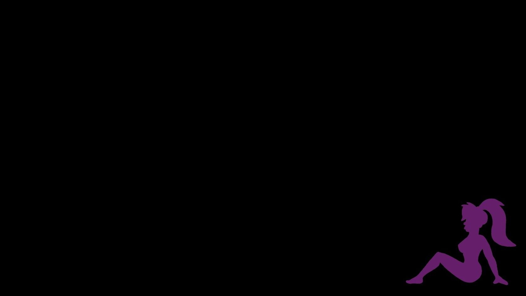 Vector Leela silhouette - Futurama WallPaper HD - http://imashon.com/vector/vector-leela-silhouette-futurama-wallpaper-hd.html