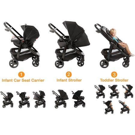 Graco Modes Click Connect Travel System Car Seat Stroller Comb