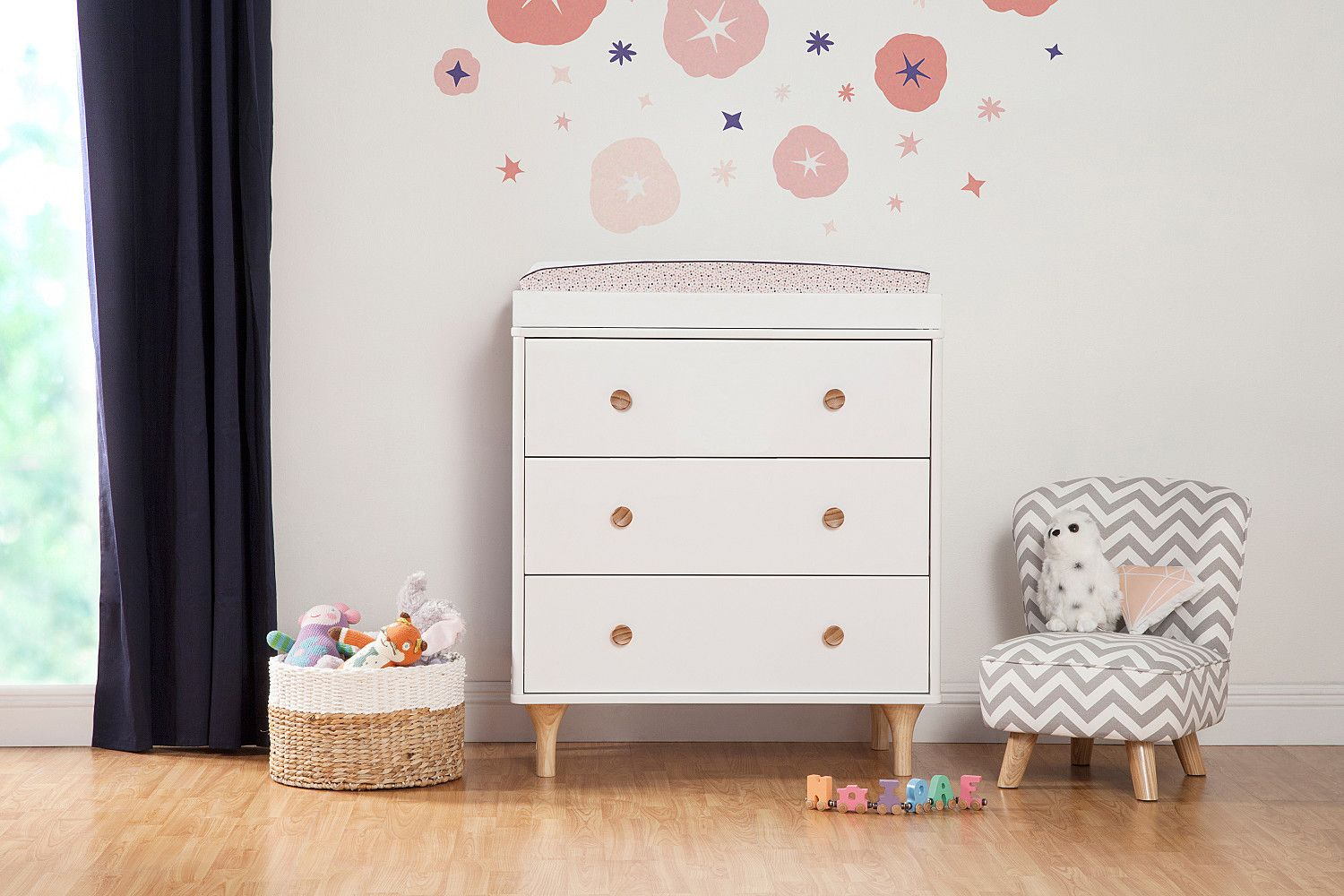 Lolly 3-Drawer Changer Dresser with Removable Changing Tray