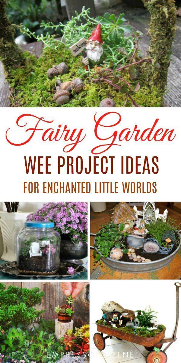 9 Delightful Fairy Garden Projects   Gardens   Pinterest   Fairy ...