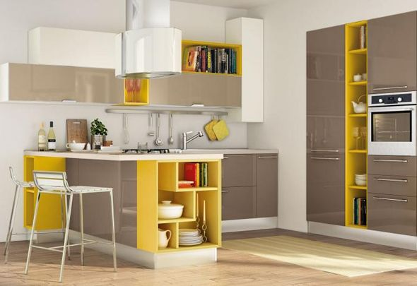 cocinas-modernas-amarillo Cocina Pinterest Kitchen design