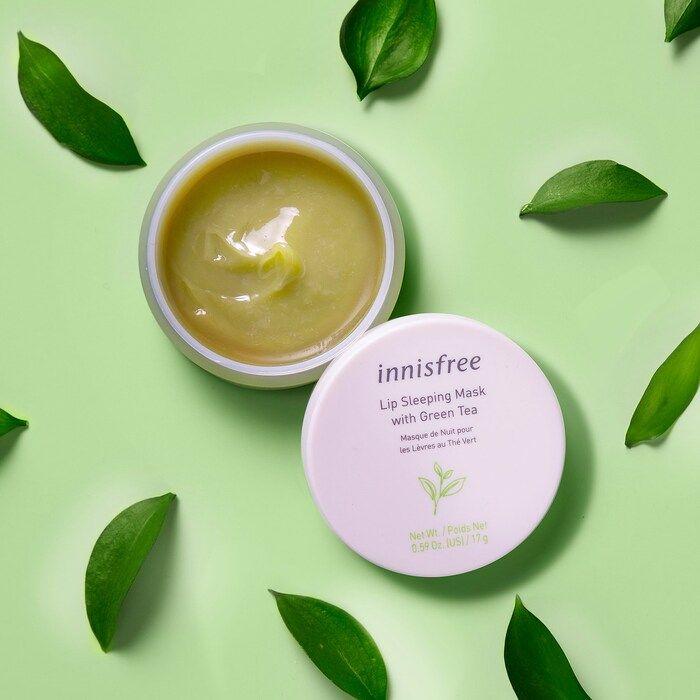 Photo of Green Tea Hydrating Lip Sleeping Mask – innisfree | Sephora