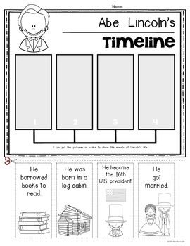 Washington And Lincoln Timelines Presidents For Kindergarten And