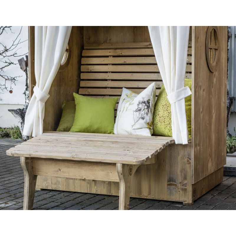 alpenkorb mit sitzbank bayrische almh tte als strandkorb. Black Bedroom Furniture Sets. Home Design Ideas