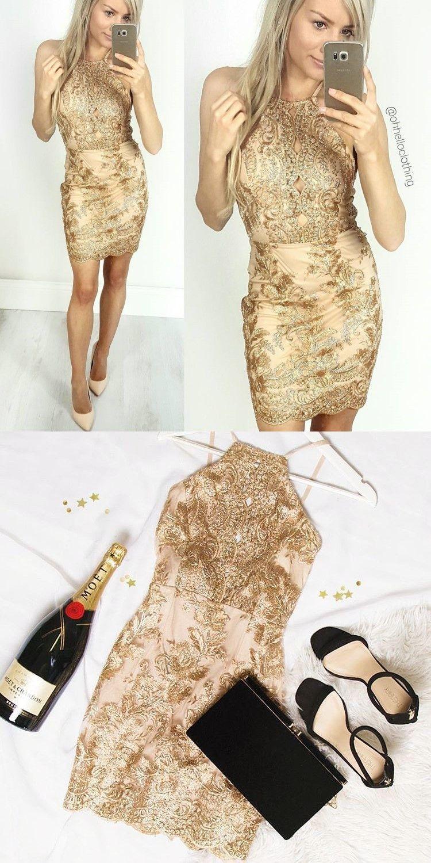 22c60dbf914 sexy gold sequins short birthday dress cocktail dress Christmas dress