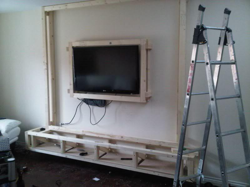 Diy Floating Wall Unit Idea Wall Unit Floating Tv Stand Ikea