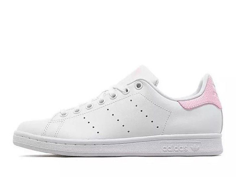 Womens Stan Unique Smith Online PINK Store White Juniors Adidas Trainers BA9858