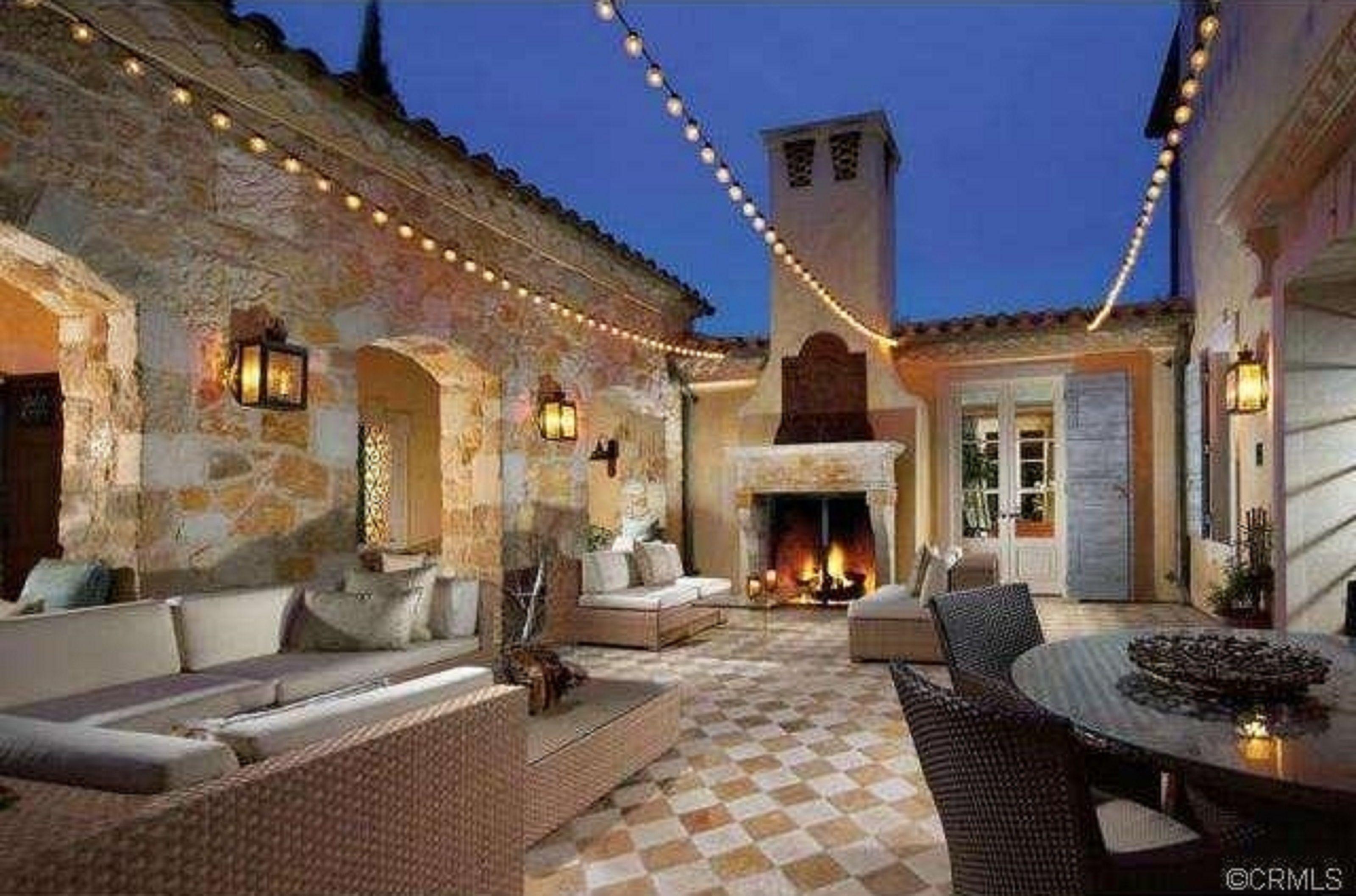 #Courtyard #Fireplace