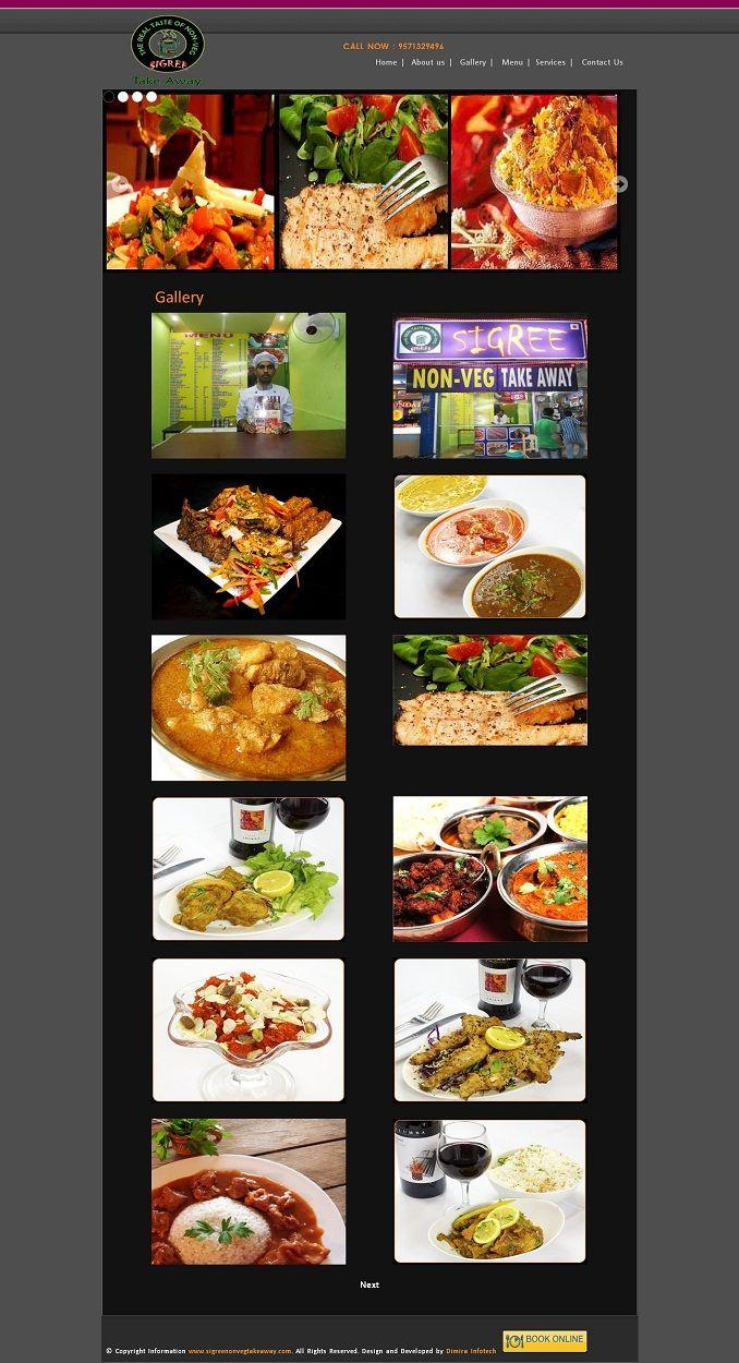 Non Veg Restaurant Website Design Inspiration Web Design