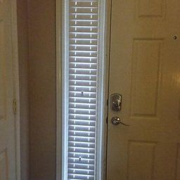 Custom Made Sidelights Horizontal Window Blinds For Doors