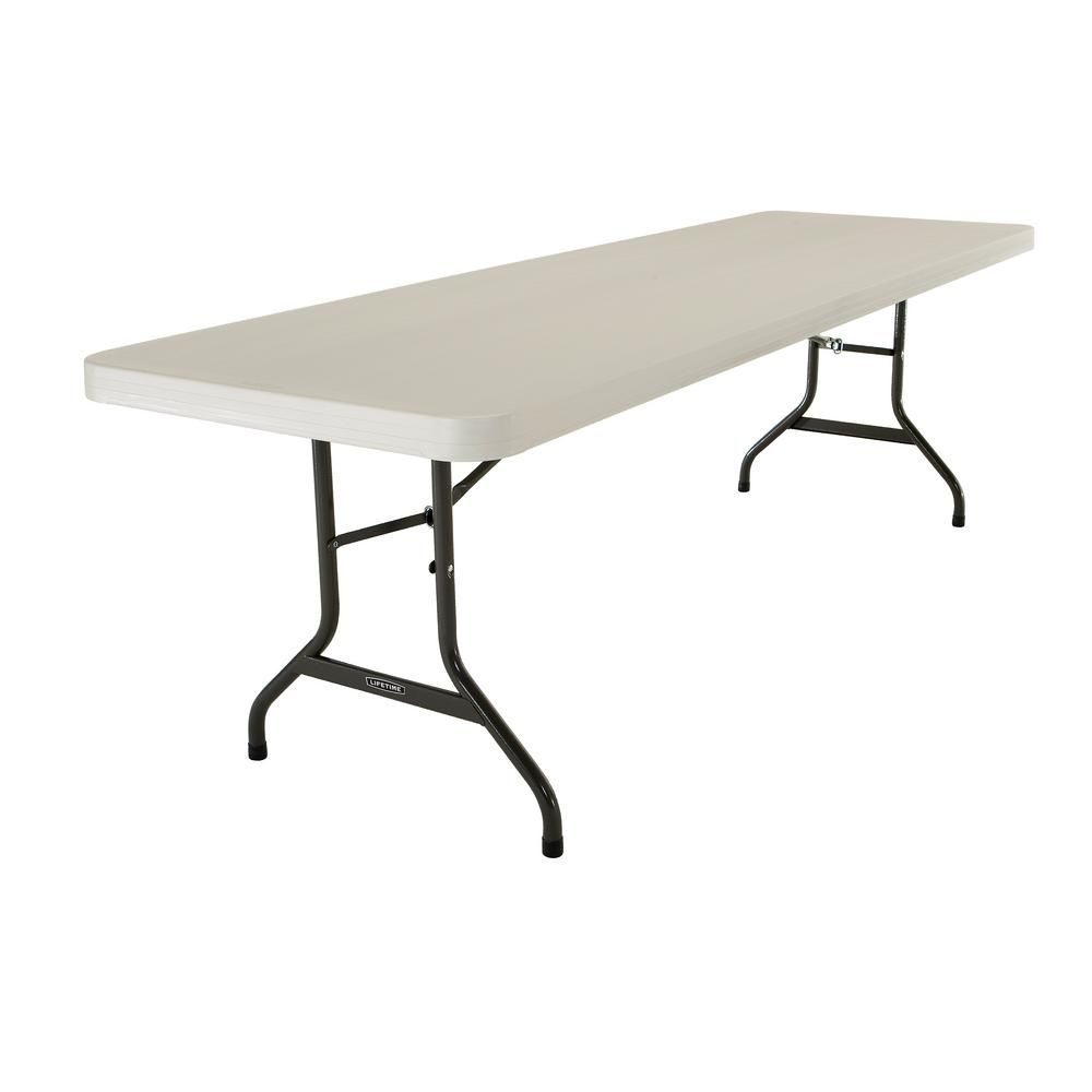 Lifetime 96 In Almond Plastic Folding Banquet Table 22984 Lifetime Tables Table Wood Folding Table