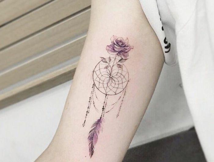 1001 id es de tatouage attrape r ve symbolique tatouages attrape r ves dessins de rose et. Black Bedroom Furniture Sets. Home Design Ideas