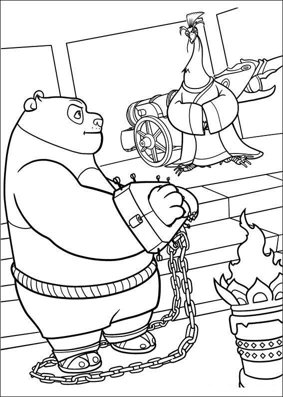 Kung fu panda kleurplaten po in handboeien   Kung Fu Panda ...