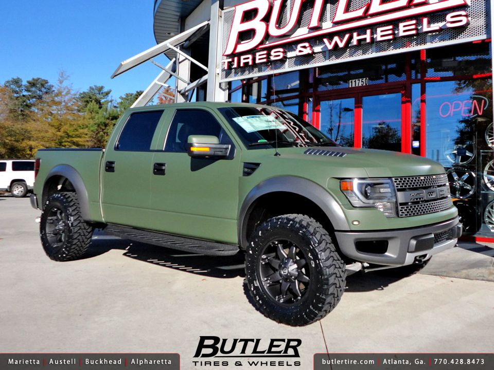 Matte Army Green Ford Raptor With 20in Fuel Octane Wheels Ford