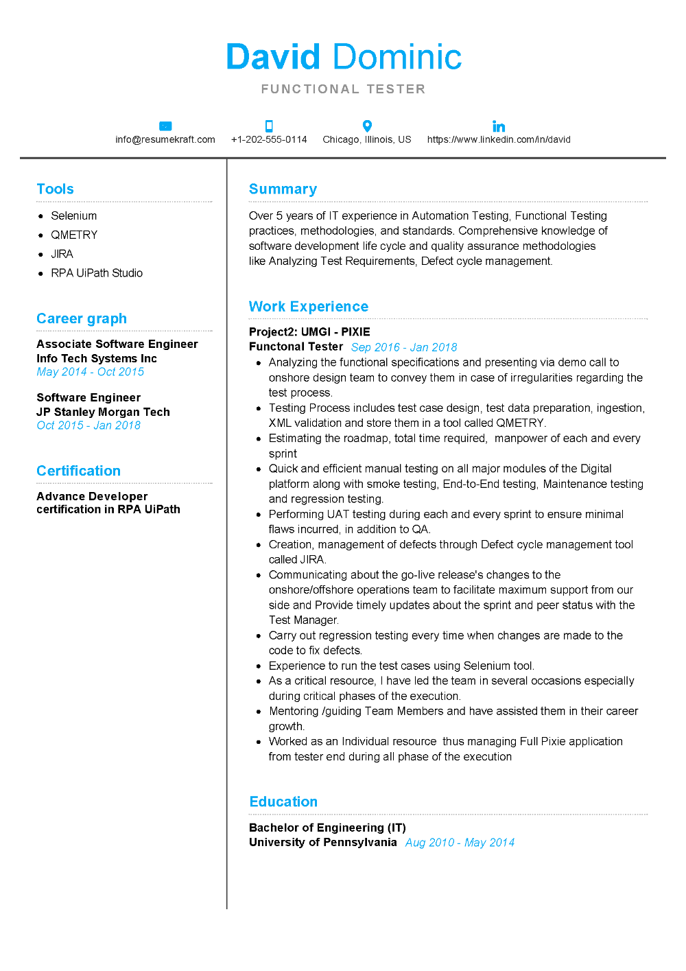 100+ Professional Resume Samples for 2020 ResumeKraft in