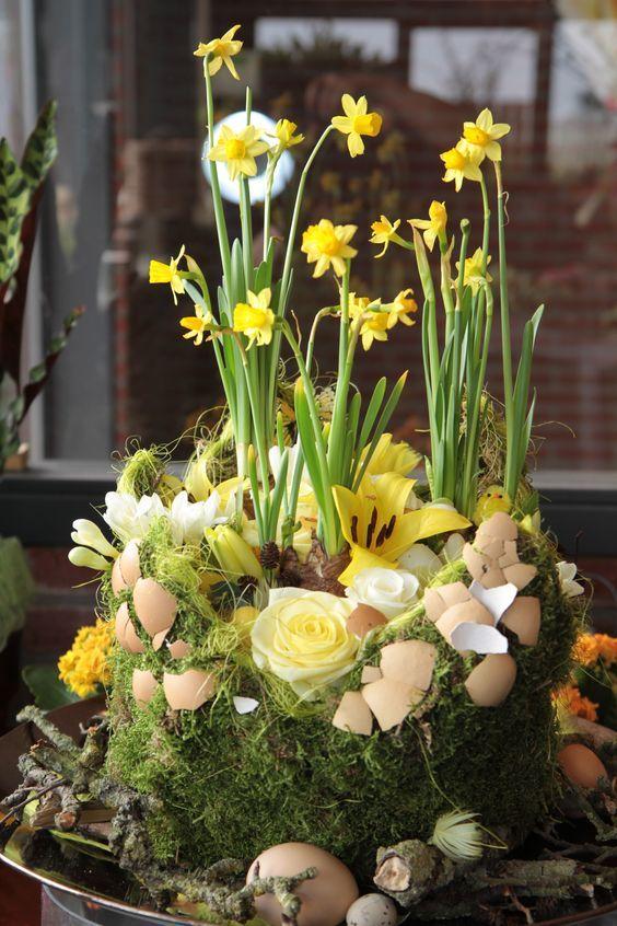 Easter Flower Arrangement Spring Easter Decorations Easter