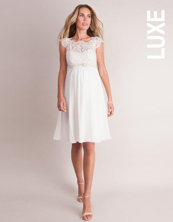 Ivory Silk & Eyelash Lace Maternity Dress. A stunning option for ...