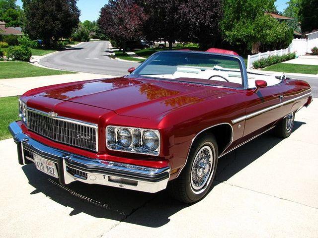 1975 Chevrolet Caprice Convertible in Dark Red  | 1970's