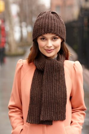 Double Duty Hat And Scarf Set | scarves | Pinterest
