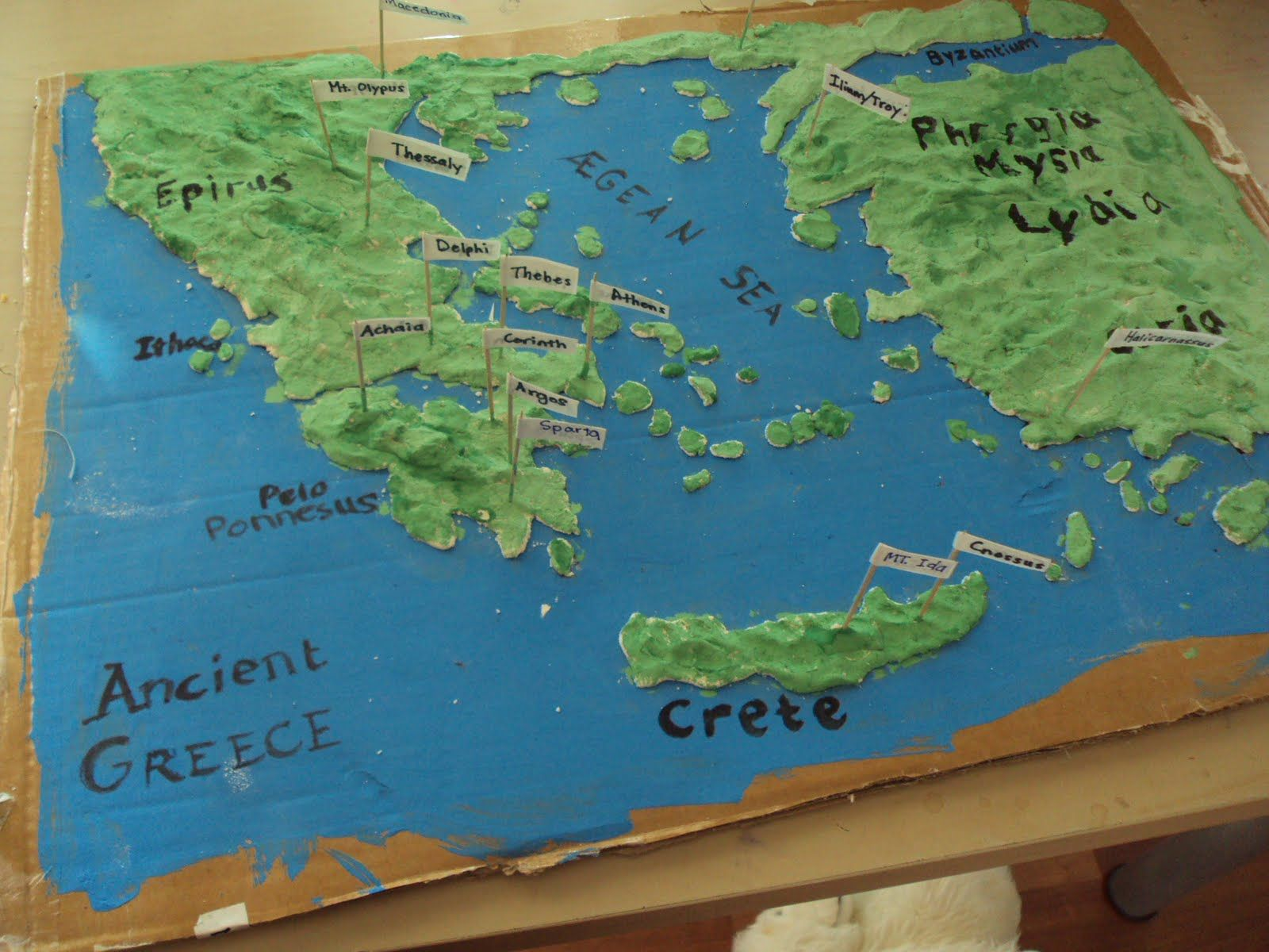 Salt Dough Relief Map Had To Make One Of These In 5th