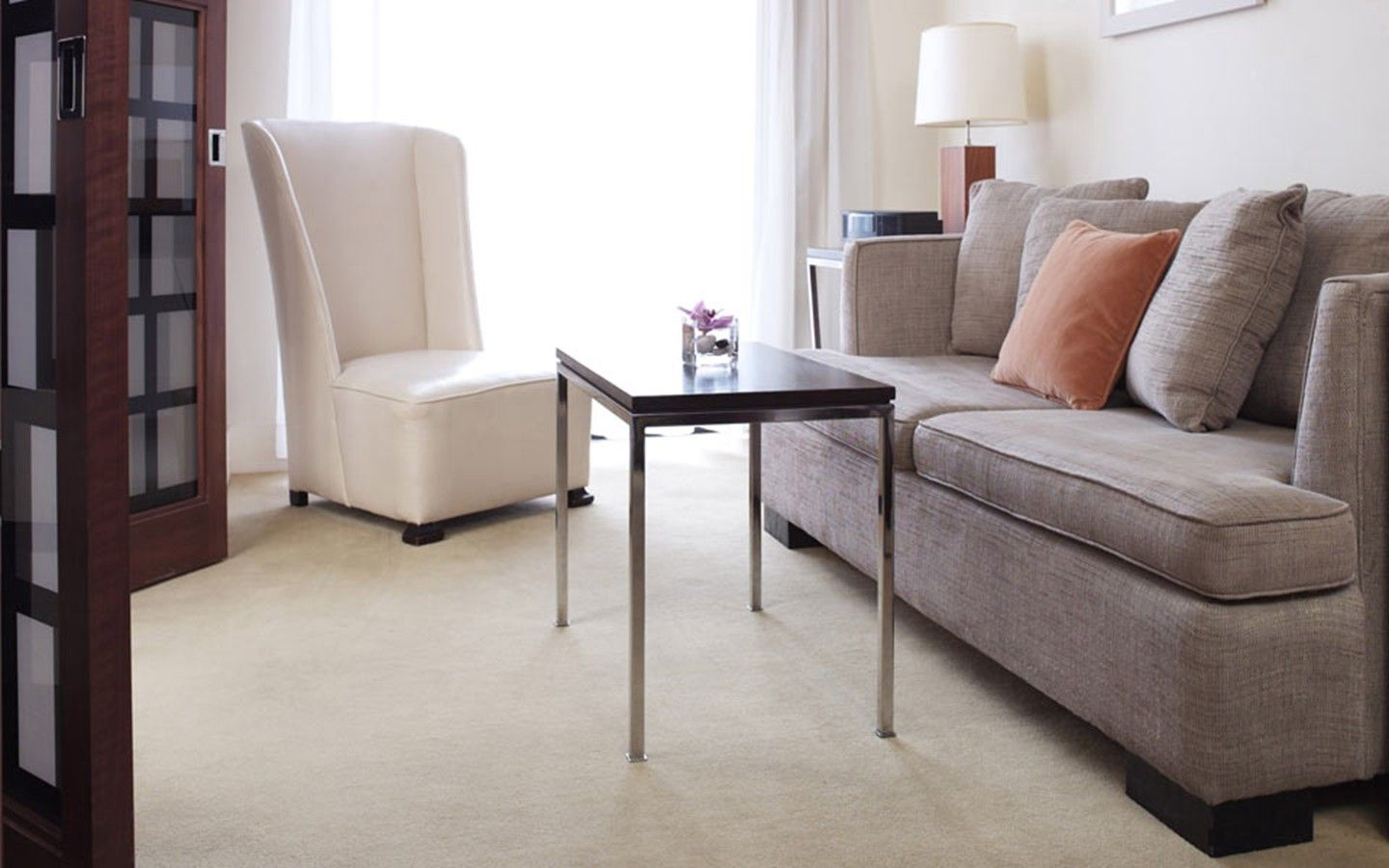 The private living area in a King Suite at 60 Thompson in SoHo New York City.