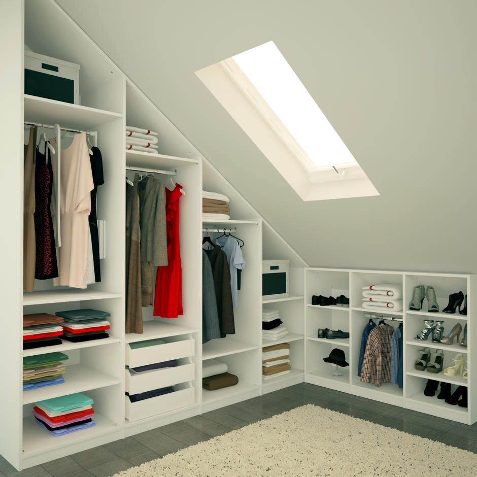 Amenagement Placard Sous Pente Ikea ikea walk in wardrobe sloped roof - google search | loft