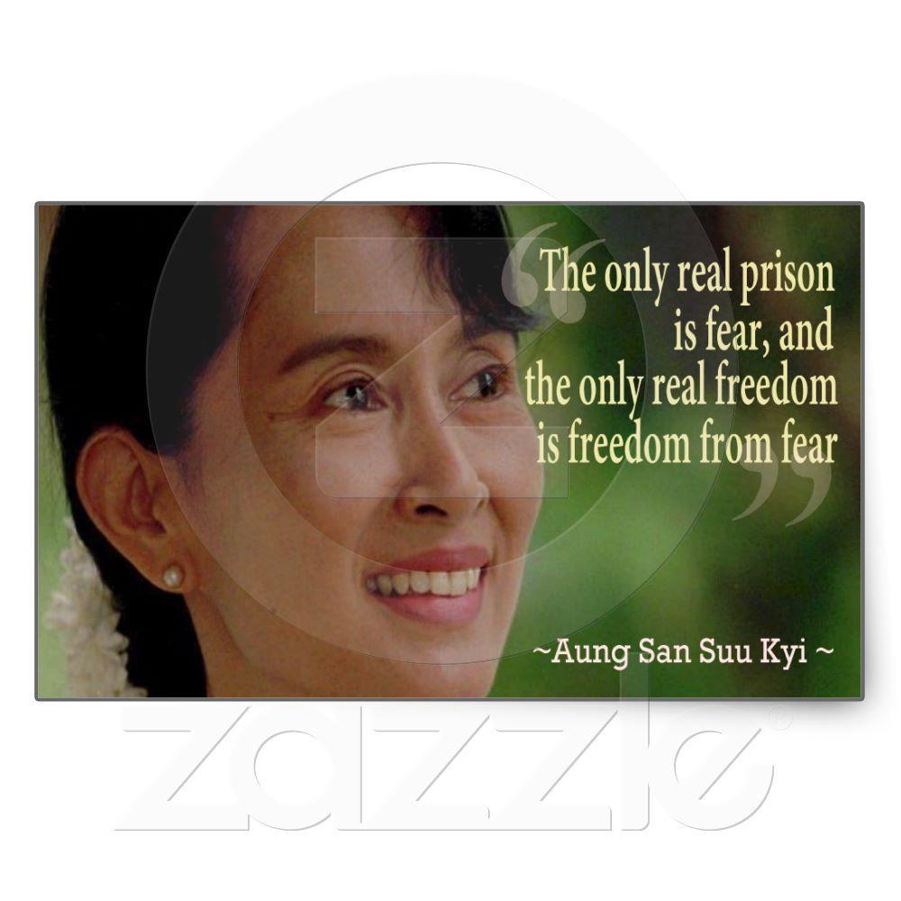 Aung San Suu Kyi Sticker Zazzlecom World Quotes