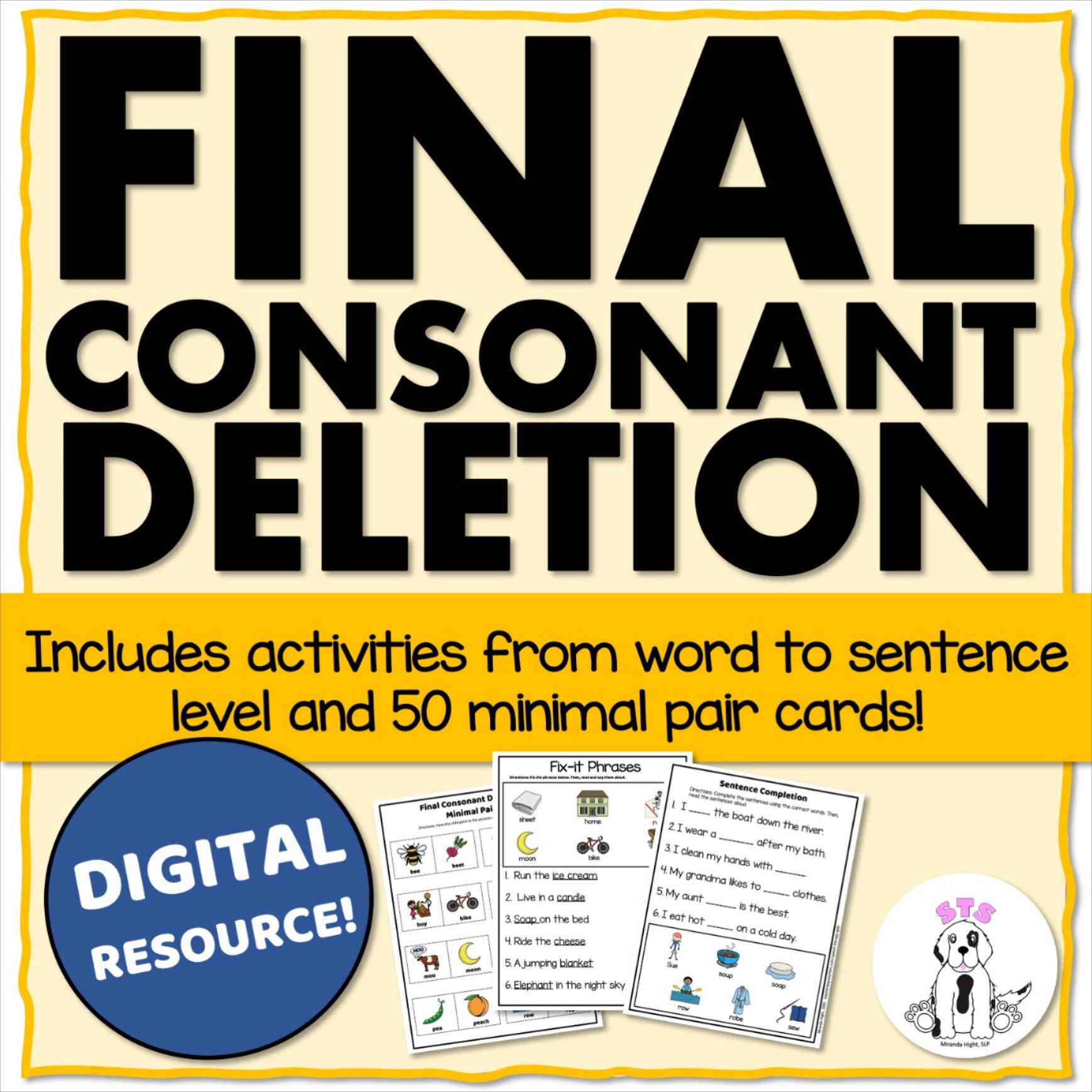 Final Consonant Deletion For Speech Therapy Using Minimal