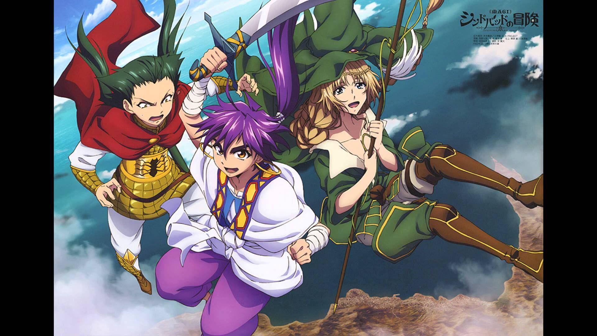Magi Adventures of Sinbad Anime magi, Magi adventures
