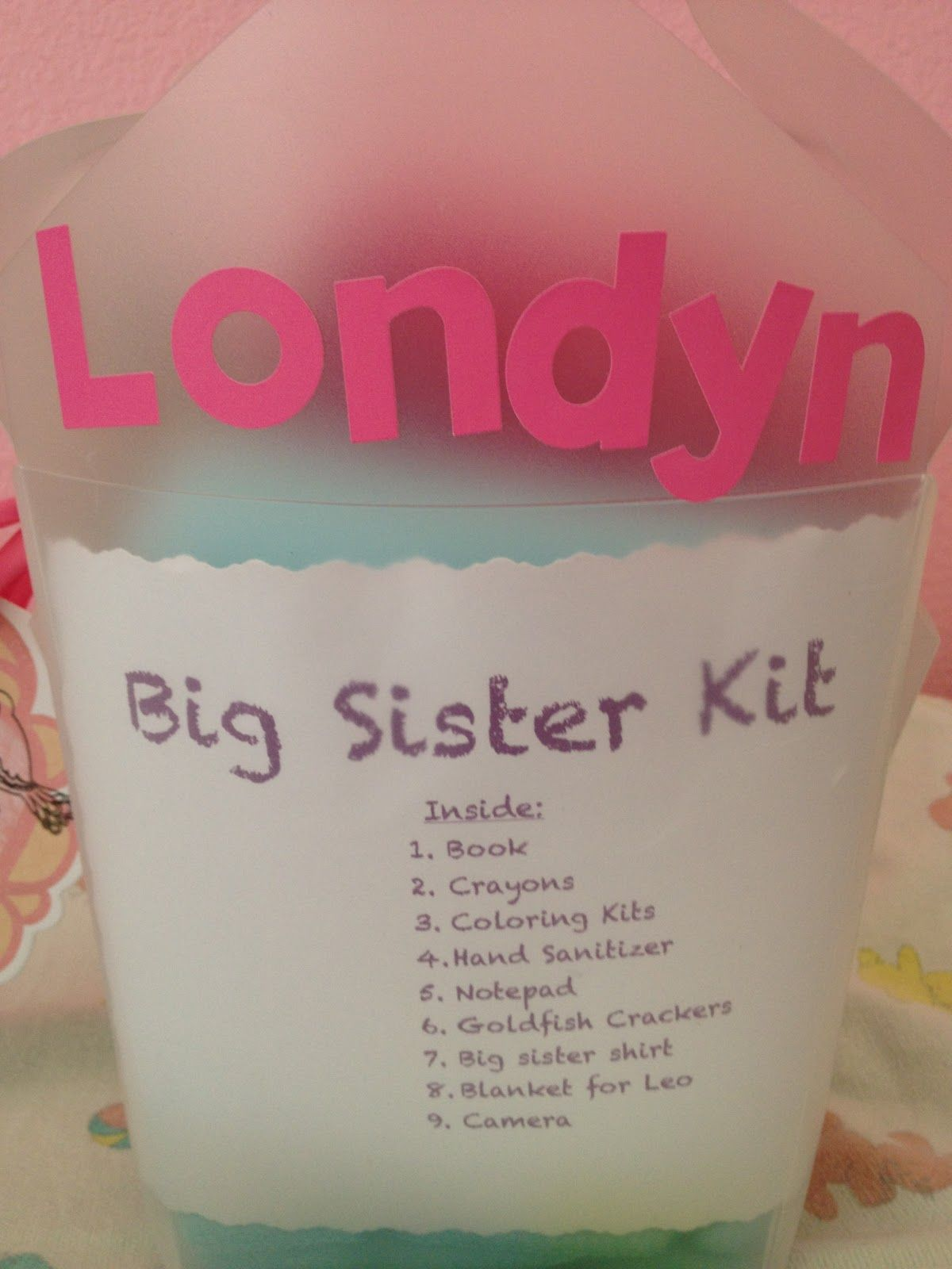 Big sister kit baby shower gift cute idea for the big for Gift with purchase ideas